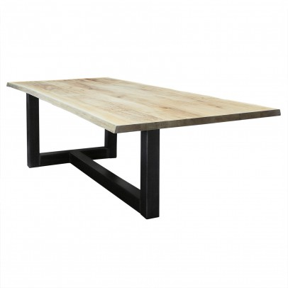Eiche Esstisch mit Baumkante