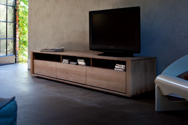 eiche tv board shadow gooran gmbh. Black Bedroom Furniture Sets. Home Design Ideas