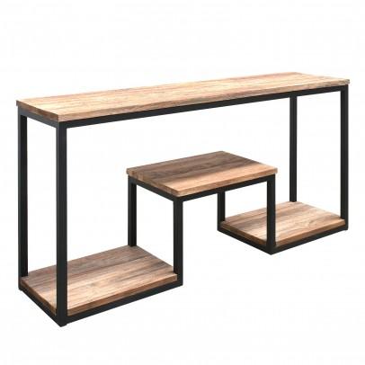 Wandtisch Albatera Teak mit 3 Ebenen