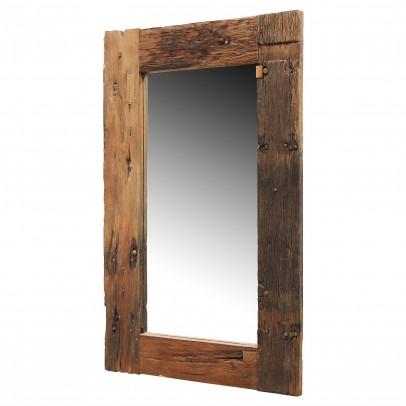 Spiegel aus alten Eichenbalken