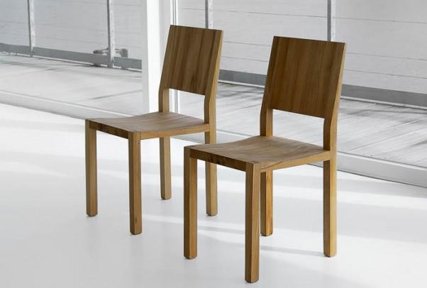Massivholz Stuhl Tau