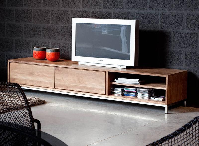 teak tv board essential low tv boards wohnen gooran gmbh. Black Bedroom Furniture Sets. Home Design Ideas