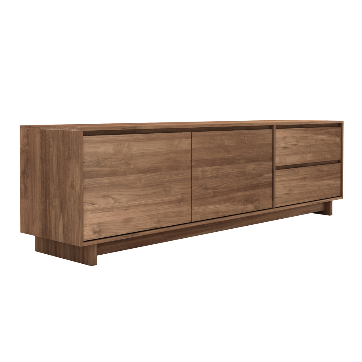 teak tv board wave modernes wohnen wohnstil gooran gmbh. Black Bedroom Furniture Sets. Home Design Ideas