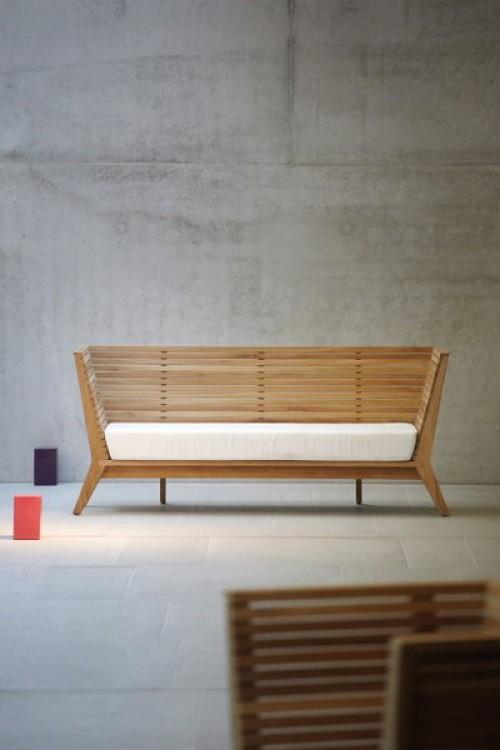 moderne gartenbank teak 111550 eine. Black Bedroom Furniture Sets. Home Design Ideas