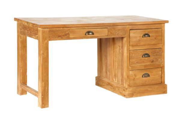 Teak Schreibtisch mit 4 Laden