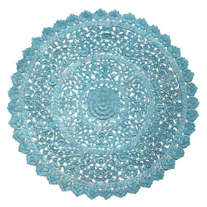 Wandobjekt Ornament Vananta blau