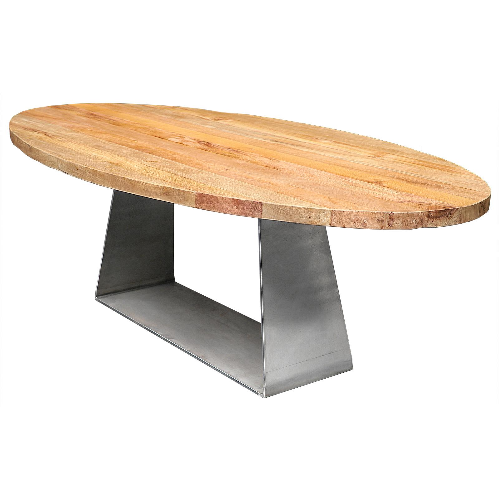 Esstisch Oval Auf Stahlgestell Gooran Gmbh