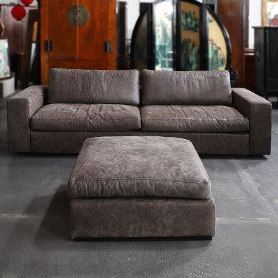 Ledersofa Sphinx inkl. Hocker -20%