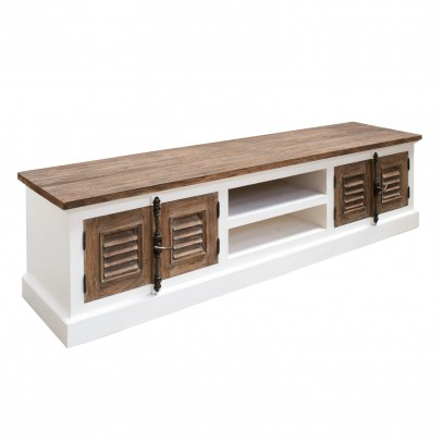 Massivholz TV-Bank Lowboard Livono Teak