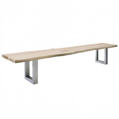 Sitzbank Eiche mit Baumkante