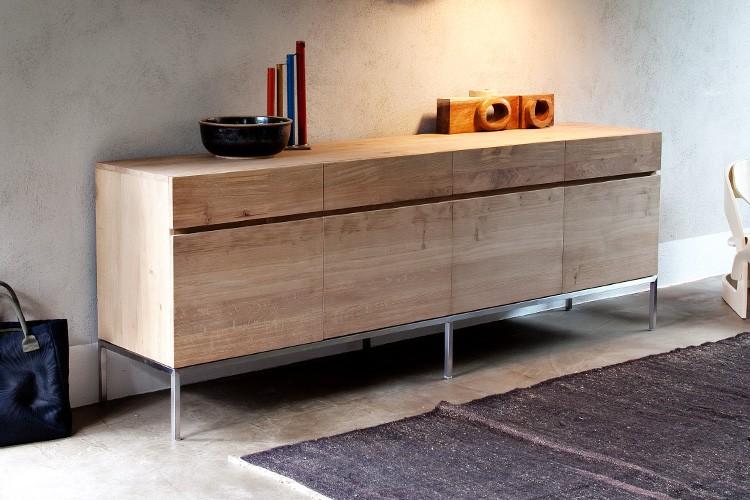 sideboard h ngend eiche. Black Bedroom Furniture Sets. Home Design Ideas